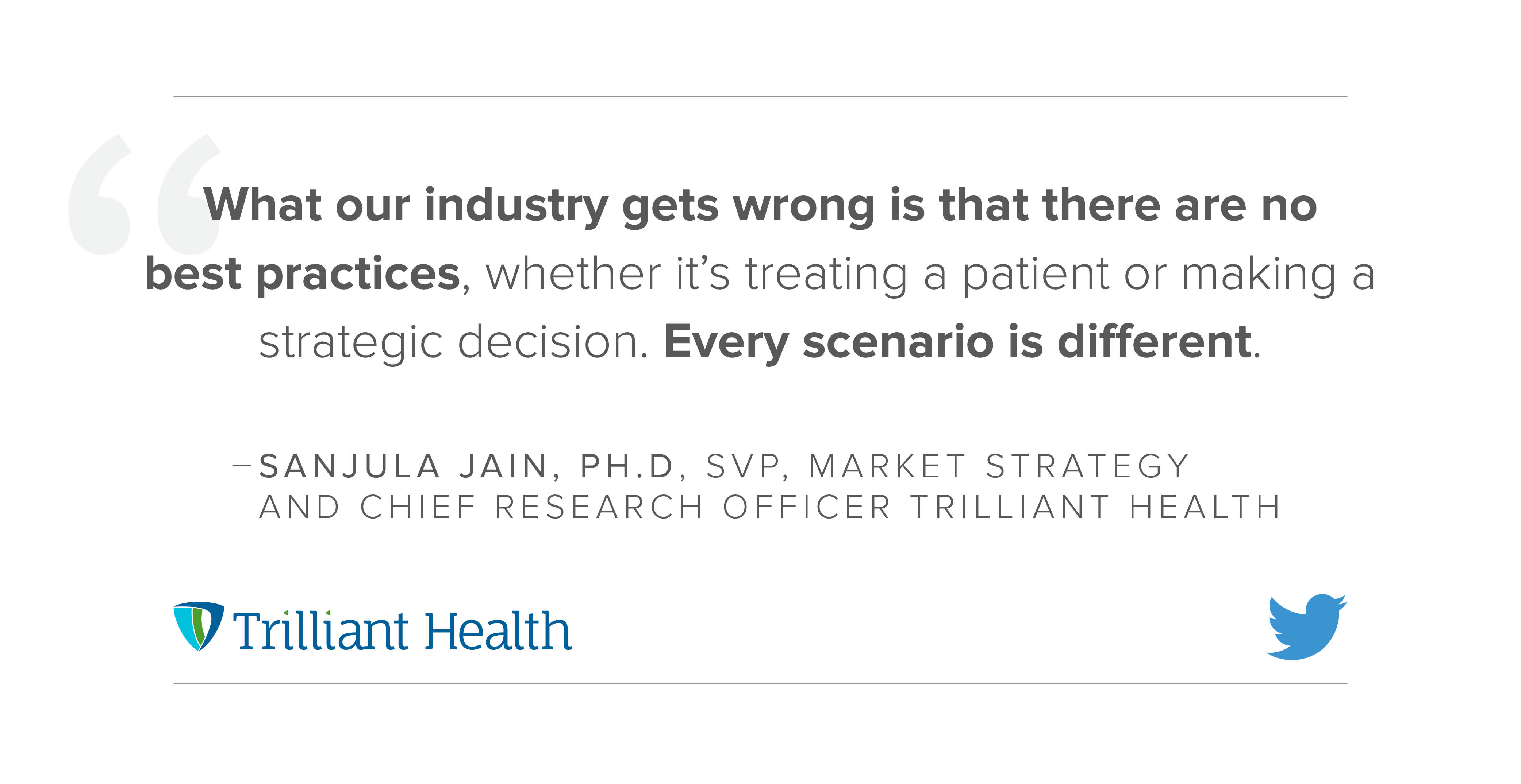 Using Data Stories to Guide Healthcare Decisions– A Conversation with Trilliant Health's Sanjula Jain, Ph.D.